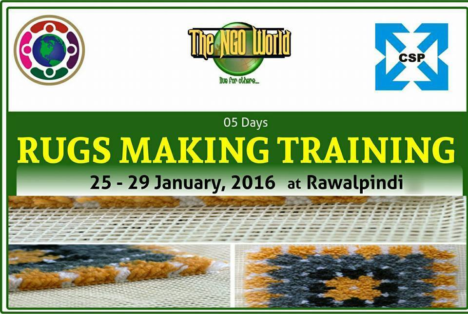 RIDA Rugs Making Training- The NGO World Foundation
