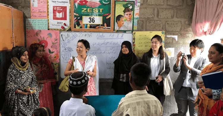 Delegation of JICA and Japan Consulate Karachi…..Visited ZEST Schools- The NGO World Foundation