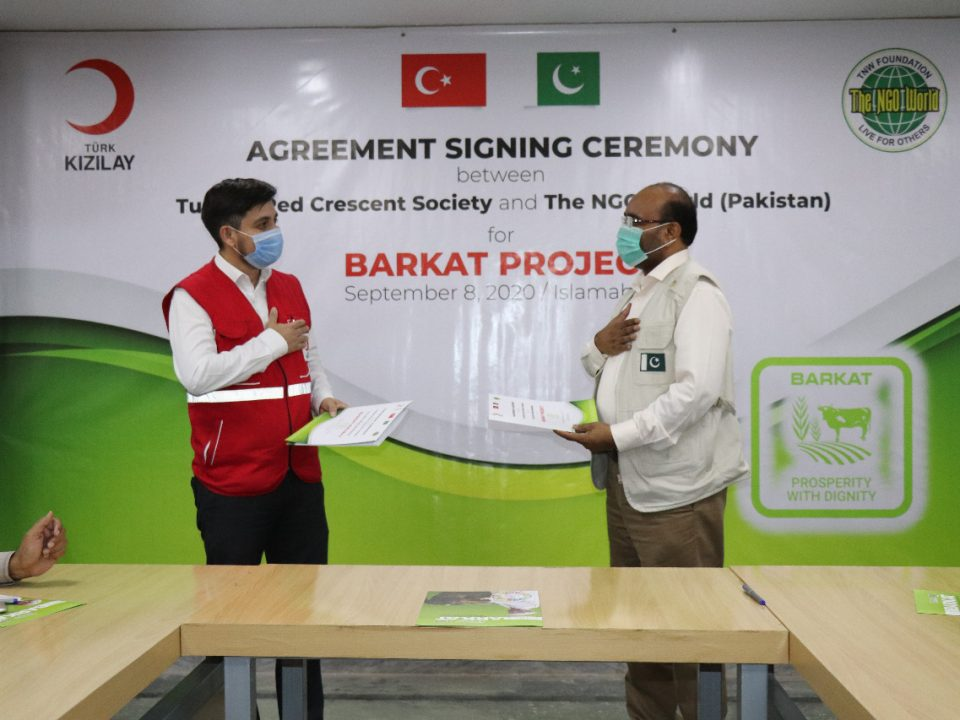 The NGO World signs MOU with TRCS for Poverty Alleviation Project- The NGO World Foundation