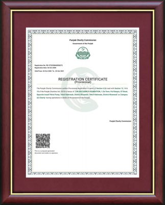 Punjan Charity Commission Certificate TNW min- The NGO World Foundation