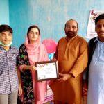 Rimsha Khalil is pride of RIDA for Girls Project 2- The NGO World Foundation